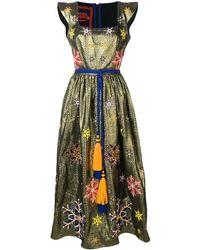 Yuliya Magdych Snowflakes Embroidered Dress - Metallic
