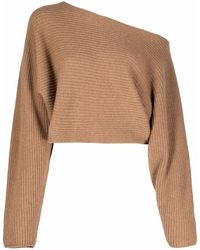 Societe Anonyme One-shoulder Knitted Top - Brown