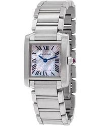 Cartier Orologio 2000 pre-owned Tank Francaise - Bianco