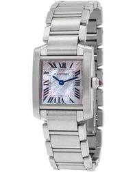 Cartier Reloj Tank Francaise de 20mm 2000 - Blanco