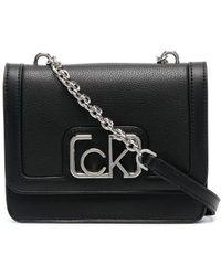 Calvin Klein Маленькая Сумка На Плечо С Логотипом - Черный