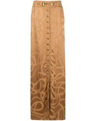 Balmain ロゴ ジャカード スカート - マルチカラー