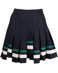 Monse プリーツ ミニスカート - ブルー