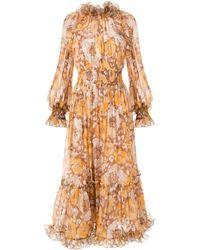 Zimmermann Super Eight フローラル ドレス - ブラウン