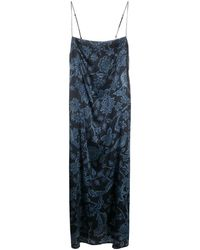 La Perla フローラル ドレス - ブルー