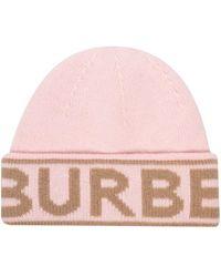 Burberry ロゴ ビーニー - ピンク