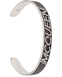Alexander McQueen Armband Met Logo - Metallic