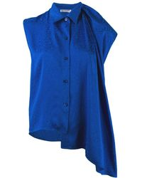 Balenciaga Блузка Без Рукавов - Синий