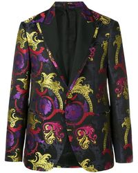 Versace Blazer Met Enkele Rij Knopen - Zwart