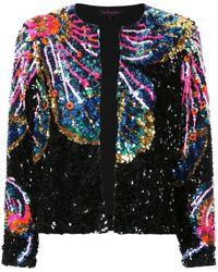 Manish Arora Lower Pattern Sequin Jacket - Black