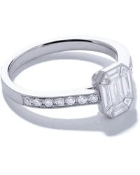 AS29 Mye ダイヤモンド リング 18kホワイトゴールド - マルチカラー