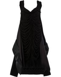 Maison Margiela ドレープ ドレス - ブラック