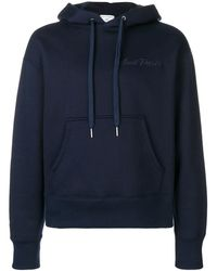 AMI Hoodie With Embroidery - ブルー
