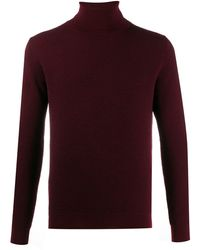 Zanone Roll Neck Sweater - Red