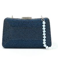 Serpui Mirela Clutch Bag With Crystals - Blue