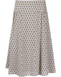 Ferragamo ロゴ Aラインスカート - マルチカラー