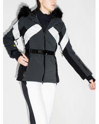 Sweaty Betty パネル フーデッド スキージャケット - グレー