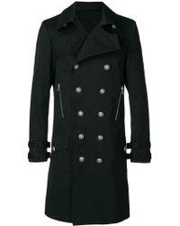 Balmain Manteau à boutonnière croisée - Noir