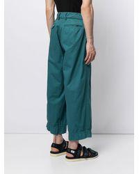 Kolor Oversize Wide-leg Pants - Blue