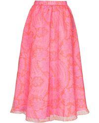 STAUD フレアスカート - ピンク