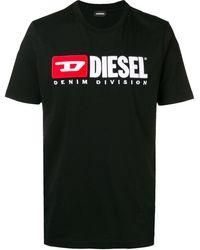 DIESEL T-just Division Tシャツ - ブラック