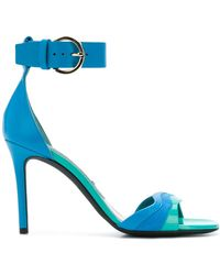 Emilio Pucci Sandalias de colour block con tira - Azul