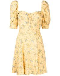 Reformation Платье Lillet С Цветочным Принтом - Желтый