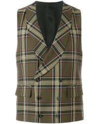 Gabriele Pasini - Checked Waistcoat - Lyst