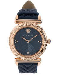 Versace Vモチーフ 35mm 腕時計 - メタリック