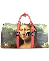 Louis Vuitton Дорожная Сумка Keepall 50 Mona Lisa Pre-owned - Розовый