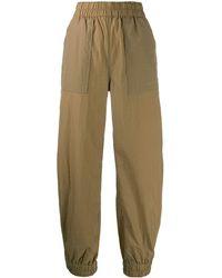 Ganni Pantalon de jogging à détail de poche - Multicolore