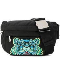 KENZO Embroidered Tiger Belt Bag - Black