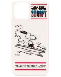 Marc Jacobs Funda Americana Snoopy para iPhone 11 Pro de x Peanuts - Blanco