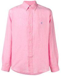 Ralph Lauren - Embroidered Pony Shirt - Lyst