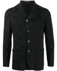 Emporio Armani Blazer texturé à simple boutonnage - Noir