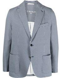 Circolo 1901 ハウンドトゥース ジャケット - ブルー