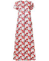 LaDoubleJ - Long Length Patterned Swing Dress - Lyst