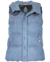 Guild Prime - Denim Look Padded Gillet - Lyst