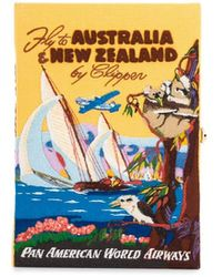 Olympia Le-Tan Voyage Australia & New Zealand Book Clutch - Yellow