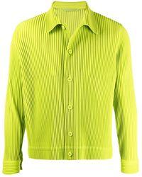 Homme Plissé Issey Miyake Camicia plissettata - Verde