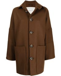 Toogood Wide Style Buttoned Jacket - Brown