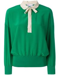 RED Valentino - Peter Pan Collar Sweatshirt - Lyst