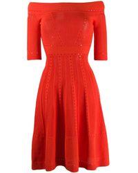 DSquared² Off-shoulder Knitted Dress - Orange