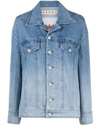 Marni Gradient Faded Denim Jacket - Blue