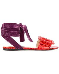 Attico - Leather Sandals - Lyst