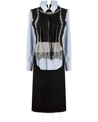 Maison Margiela マルチパネル ドレス - ブラック