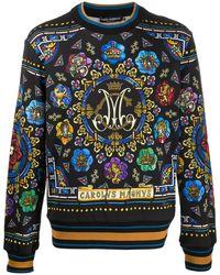 Dolce & Gabbana Sweatshirt mit Print - Schwarz