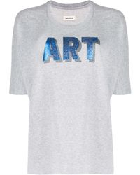 Zadig & Voltaire プリント Tシャツ - グレー