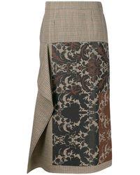 Ports 1961 Asymmetric Baroque-print Skirt - Multicolour