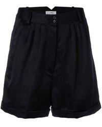 Forte Forte Geplooide Shorts - Zwart